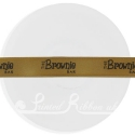 15mm LIGHT BROWN / MINK satin printed ribbon, personalised printed ribbon, bespoke ribbon 25m roll
