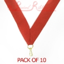 Red Medal ribbon pack of 10
