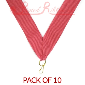 MEDALRIBLPNK10pk LIGHT PINK Medal ribbon with ring clip - Pack of 10