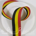 Black, yellow and red striped ribbon like Belgium flag colours