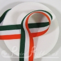 Green, White and Orange striped ribbon like Irish flag colours