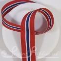 Red White Blue White Red striped ribbon like Norwegian flag colours