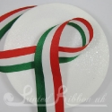 Green, White and Red striped ribbon like Italian flag colours