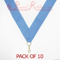 Light Blue Medal ribbon pack of 10