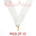 White Medal ribbon pack of 10