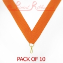Orange Medal ribbon pack of 10