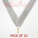 Silver Medal ribbon pack of 10