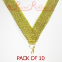 Gold Medal ribbon pack of 10