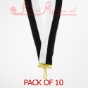 Striped Black & White Medal ribbon pack of 10