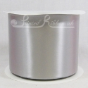 100mm Silver Satin ribbon 50m roll
