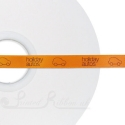 BRIGHT ORANGE 10mm printed ribbon, persolalised ribbon, 50m