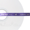 PURPLE 10mm printed ribbon, persolalised ribbon, 50m