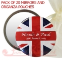 personalised printed mirrors with heart and wings