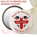 personalised printed mirrors with UNION JACK HEART