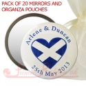 personalised printed mirrors with SCOTTISH HEART