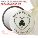 personalised printed mirrors with IRISH HEART