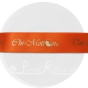 25mm Bright Orange ribbon with bespoke personalised print