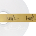 Bronze printed ribbon 25mm black personalised ribbon 25m