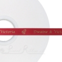 10mm personalised printed satin ribbon CARDINAL RED ribbon 50m