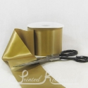 100mm 4inch wide plain GOLD single faced satin ribbon by the metre