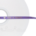 50m roll of LIGHT PURPLE Personalised Printed Custom Satin Ribbon for Wedding favour gifts