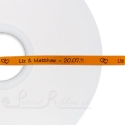 50m roll of ORANGE Personalised Printed Custom Satin Ribbon for Wedding favour gifts
