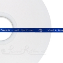 50m roll of ROYAL BLUE Personalised Printed Custom Satin Ribbon for Wedding favour gifts