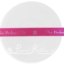 15mm BEAUTY PINK wedding ribbon with customized print