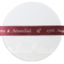 15mm BURGUNDY wedding ribbon with customized print