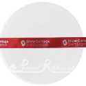 15mm CARDINAL RED wedding ribbon with customized print
