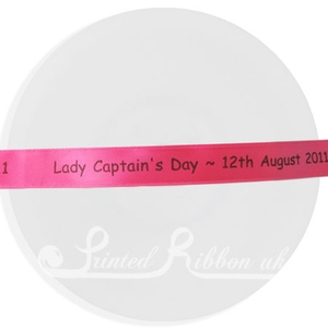 PW15FUCH25M 25m roll of FUCHSIA PINK Personalised Printed Custom Satin Ribbon for Wedding  favour gifts