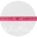 15mm HOT PINK wedding ribbon with customized print