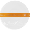 15mm ORANGE wedding ribbon with customized print
