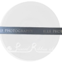 15mm PEBBLE GREY wedding ribbon with customized print