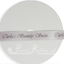 15mm SILVER wedding ribbon with customized print