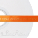 15mm BRIGHT ORANGE wedding ribbon printed with bespoke message