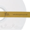 15mm  BRONZE wedding ribbon printed with bespoke message