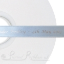 15mm LIGHT BLUE wedding ribbon printed with bespoke message