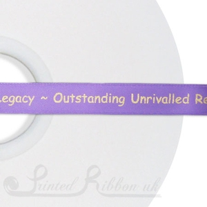 PW15LPUR50M 50m roll of LIGHT PURPLE Personalised Printed Custom Satin Ribbon for Wedding  favour gifts
