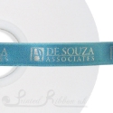 15mm TURQUIOSE wedding ribbon printed with bespoke message