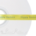 15mm YELLOW wedding ribbon printed with bespoke message