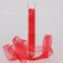 bright red organza / chiffon ribbon, 25m roll
