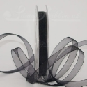 black organza / chiffon ribbon, 25m roll