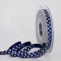 navy blue polka dot ribbon, 20m roll