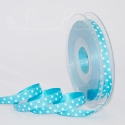 qua/turquoise polka dot ribbon, 20m roll