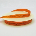 15mm bright orange Halloween Ribbon, 50m