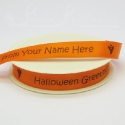 15mm bright orange Halloween Ribbon, 25m