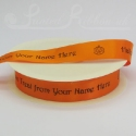 25mm bright orange Halloween Ribbon, 50m
