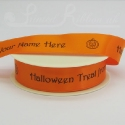 25mm bright orange Halloween Ribbon, 25m