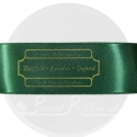 38mm Green personalised, printed ribbon 50m